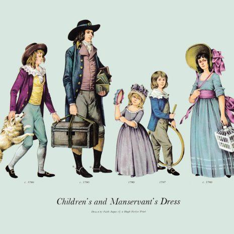 ASII17 Children's and Manservant's Dress 1780-1787