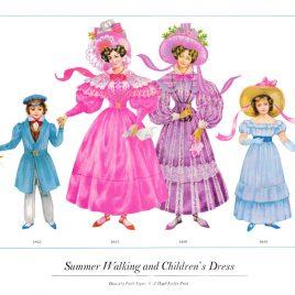 Summer Walking and Children's Dress, 1830-1833
