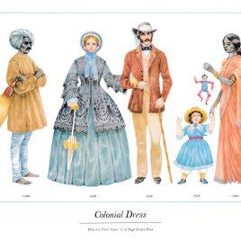 Colonial Dress, 1850-1860