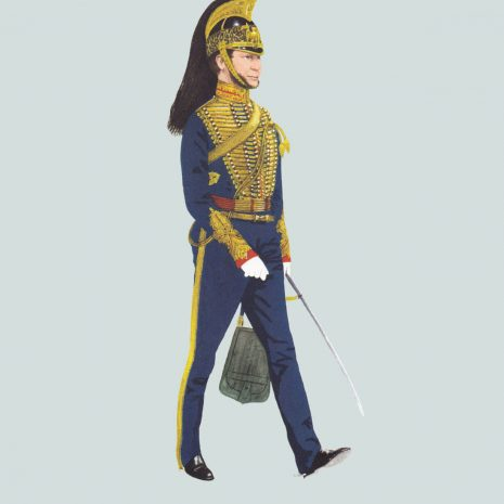 AW13 Officer, 1st Troop, Bombay Horse Artillery, 1860