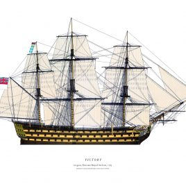 HMS Victory, 100 guns, First Rate, 1765
