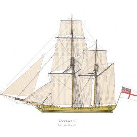 HMS Speedwell, Ketch-rigged Sloop, 1780