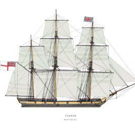 HMS Terror, Bomb Vessel, 1812