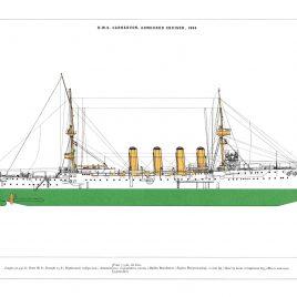 HMS Carnarvon, Armoured Cruiser, 1904