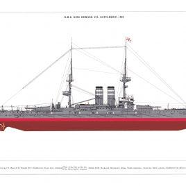 HMS King Edward VII, Battleship, 1905
