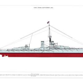HMS Orion, Battleship, 1912