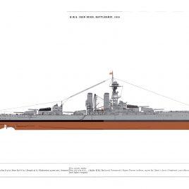 HMS Iron Duke, Battleship, 1914