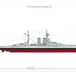 HMS Queen Elizabeth, Battleship, 1915