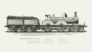 Locomotive Engravings 1851-1896
