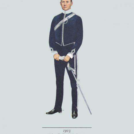 AZ18 Subaltern, Warwickshire Yeomanry, 1903