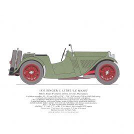 1933 Singer 1 1/2 Litre 'Le Mans'