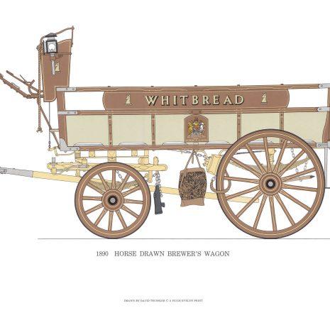 BB02 Horse Drawn Brewer's Wagon