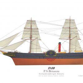 1840, RMS Britannia