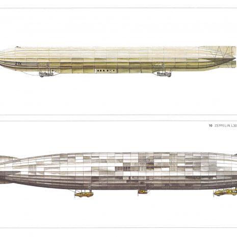 BJ 07 Zeppelin ZIX 1914 and Zeppelin L30 1916