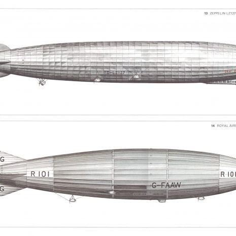 BJ 09 Zeppelin LZ127 1928 and Royal Airship R101 1929