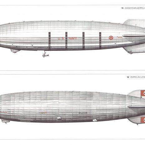 BJ 10 Goodyear Zeppelin 1931 and Zeppelin LZ129 1936