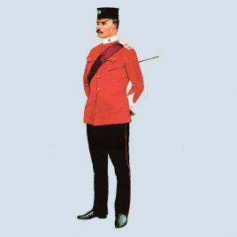 Captain, Devonshire Regiment, 1896