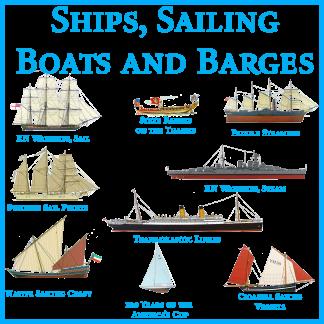 Ships Sailing Boats and Barges