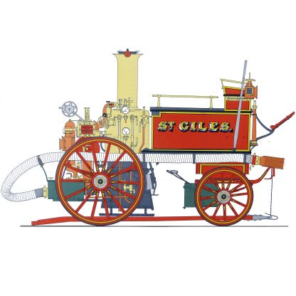 BB 4 Shand Mason Horse Drawn Fire-engine