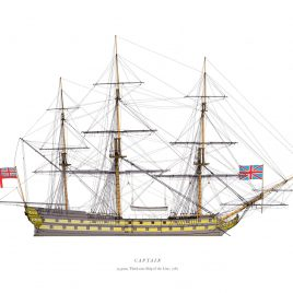HMS Captain, Third Rate Ship of the Line, 1787