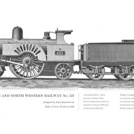 London & North Western Railway 2-2-2, No. 531 'Lady of the Lake'