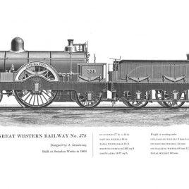 Great Western Railway 2-2-2, No. 378 'Sir Daniel'
