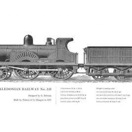 Caledonian Railway 4-4-0, No. 128