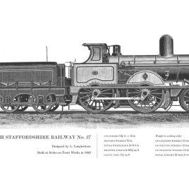 North Staffordshire Railway 2-4-0, No. 27
