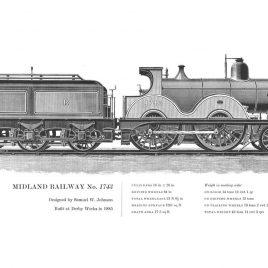 Midland Railway 4-4-0, No. 1743