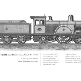 North Eastern Railway 4-2-2, No. 1518