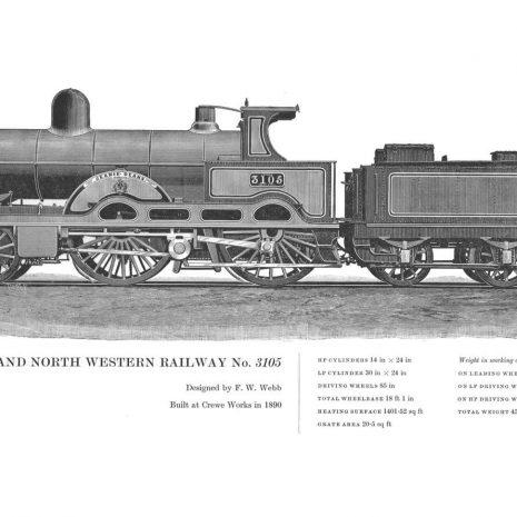 RA11 London and North Western No 3105
