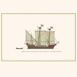 15th Century Three-Masted Scandinavian Holk