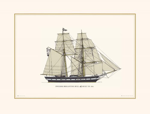 Sailing Through Centuries Print French Topsail Schooner Champenoise of Granville