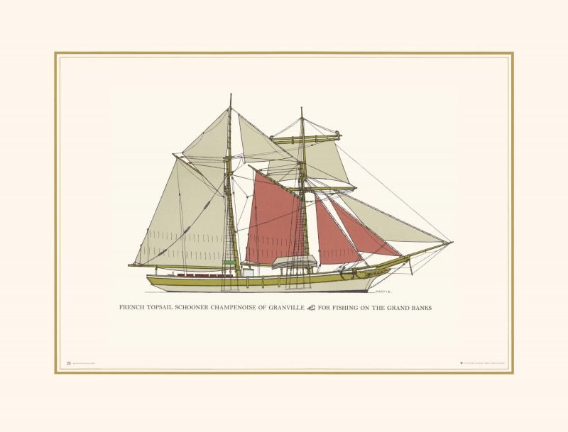 French Schooner Topsail