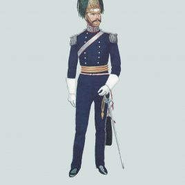 Officer, The North Somerset Yeomanry, 1854