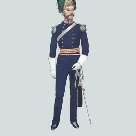 AZ08 1854 Officer, North Somerset Yeomanry